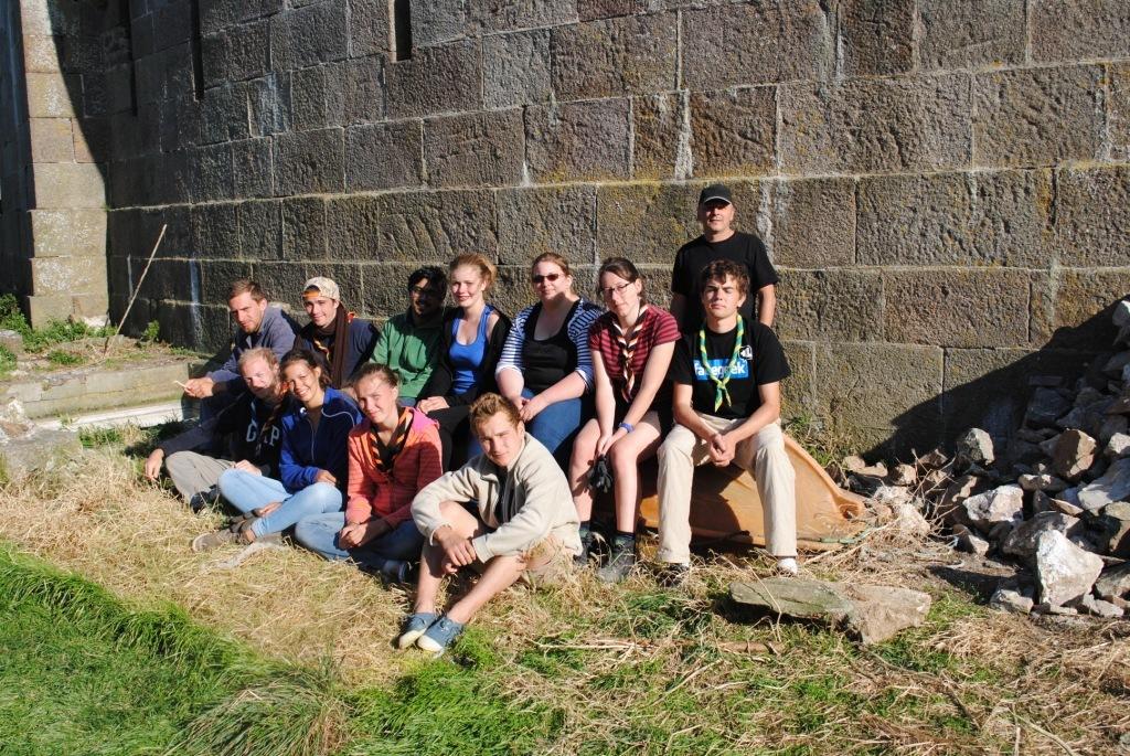 Le groupe de bénévoles du chantier 34