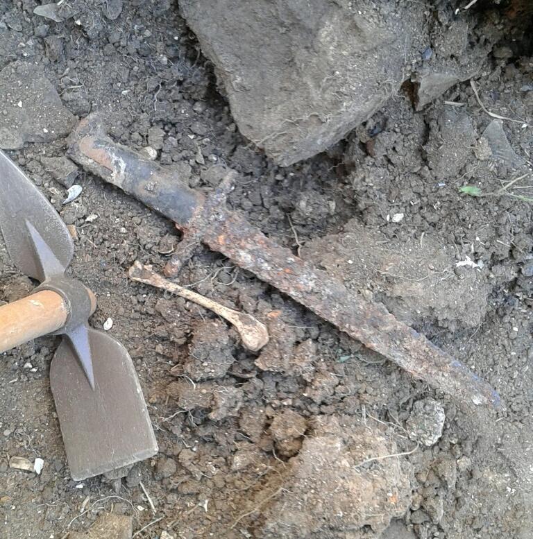 Baïonnette américaine trouvée sur l'île en 2016