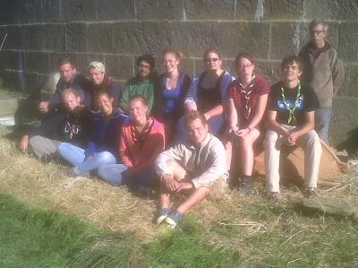 Le groupe de bénévoles du chantier de la semaine 34 2014