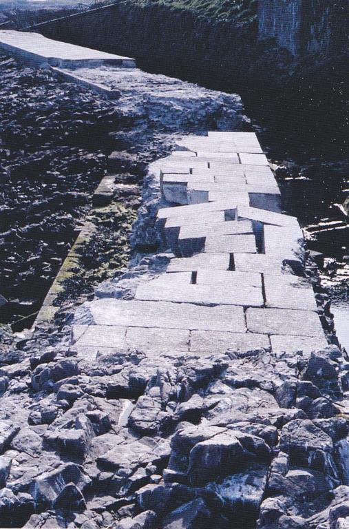 La digue sud en 1985