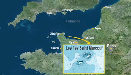 Situation of Saint-Mecouf Islands