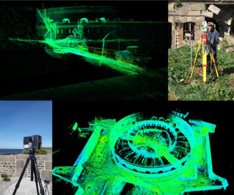 Vincent Nicoleau a réalisé des numérisations 3D de l'île du large grâce à un scanner 3D