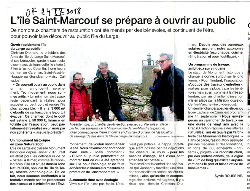 Les amis de l'île du large Saint-Marcouf