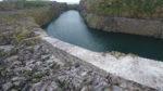 Extrémité de la digue Nord Est