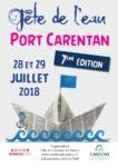 Affiche de la fête de l'eau 2018 au port de Carentan
