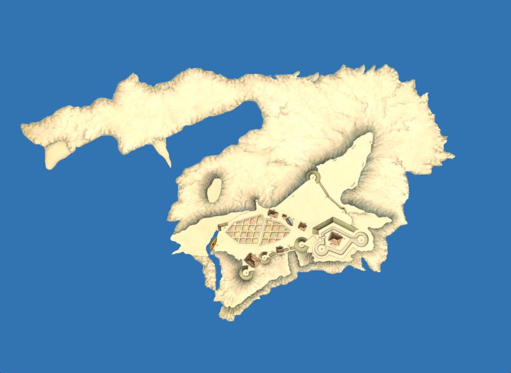 Plan des fortifications anglaises en 1802 sur l'île du Large