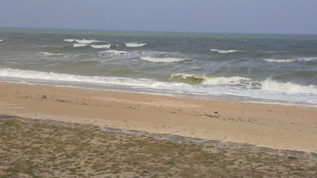 La mer à Ravenoville samedi, deux jours avant l'embarquement prévu